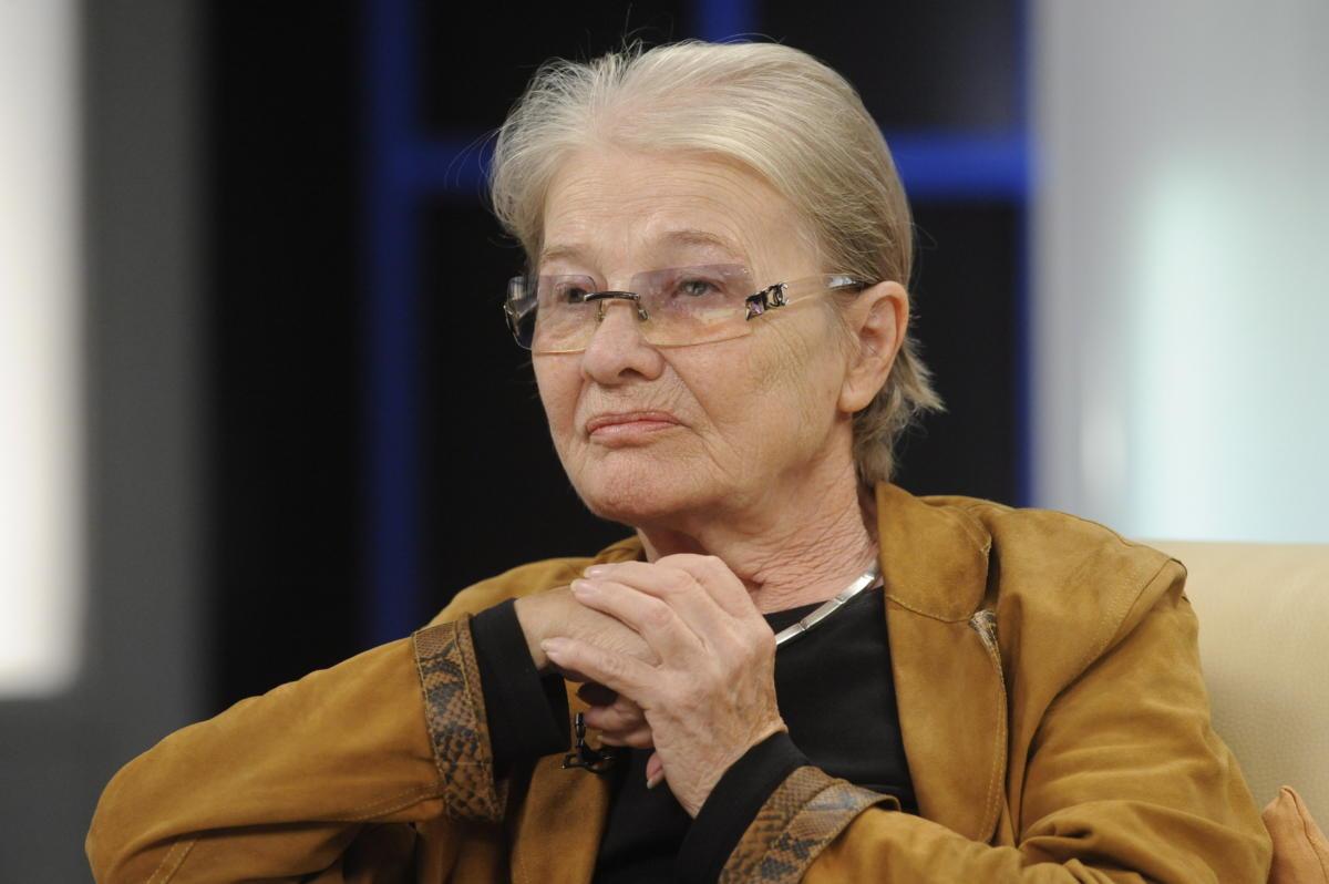 Törőcsik Mari a Makk Károly filmrendező 87-ik születésnapját ünneplő Hogy volt!? című tv-műsor felvételén 2012. november 28-án.