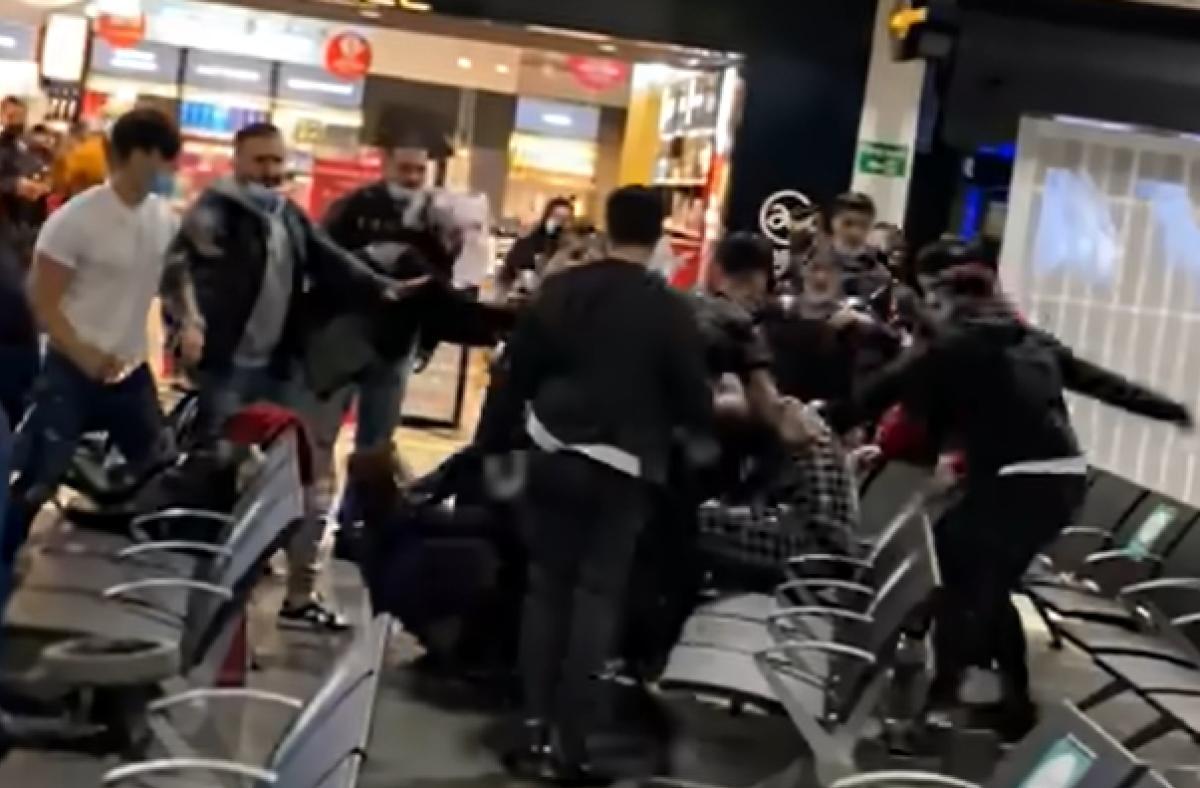 Részlet a tömegverekedésről készült videóból