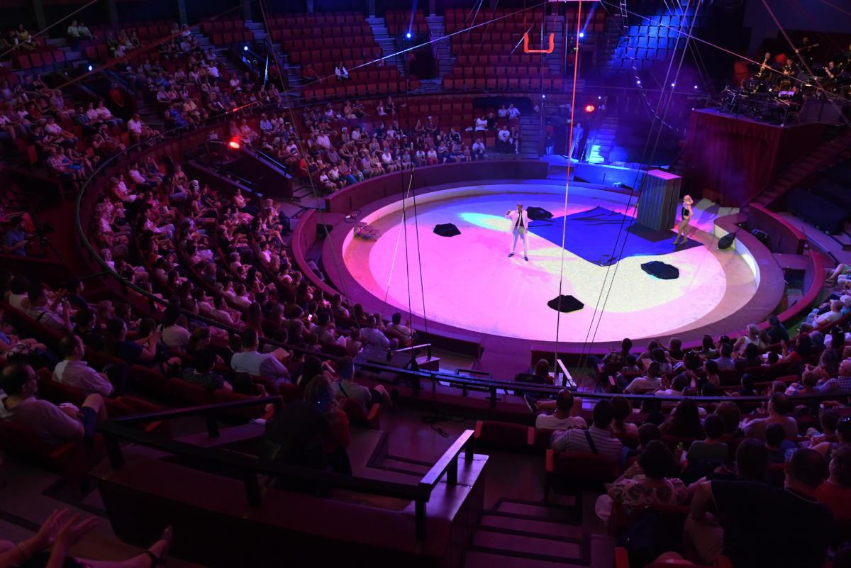 Cirkuszi előadáson látják vendégül a Szent Margit Kórház dolgozóit és családtagjaikat a Fővárosi Nagycirkuszban 2021. június 20-án.