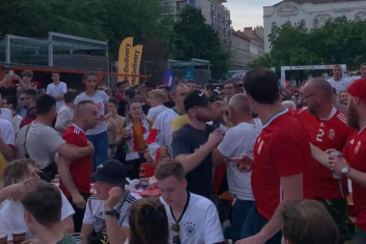 Fenyegetni kezdték a portugál szurkolókat, majd végül egymást rángatták a magyarok a Deák térnél