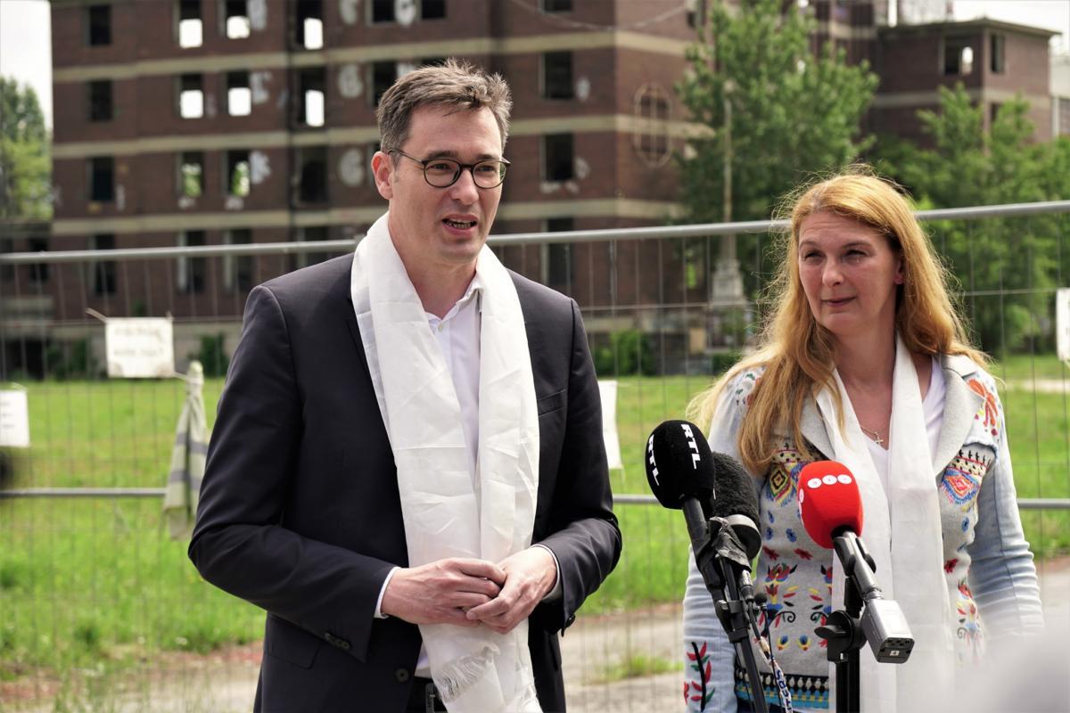 Karácsony Gergely budapesti főpolgármester és Baranyi Krisztina ferencvárosi polgármester 2021. június 2-án.