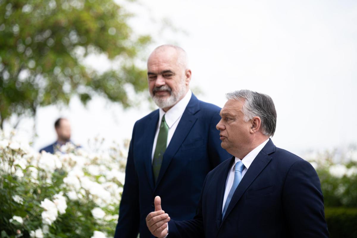 Orbán Viktor és Edi Rama albán kormányfő 2021. június 8-án Budapesten.
