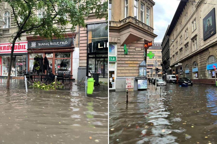 Hatalmas felhőszakadás mosta el Budapestet hétfő reggel