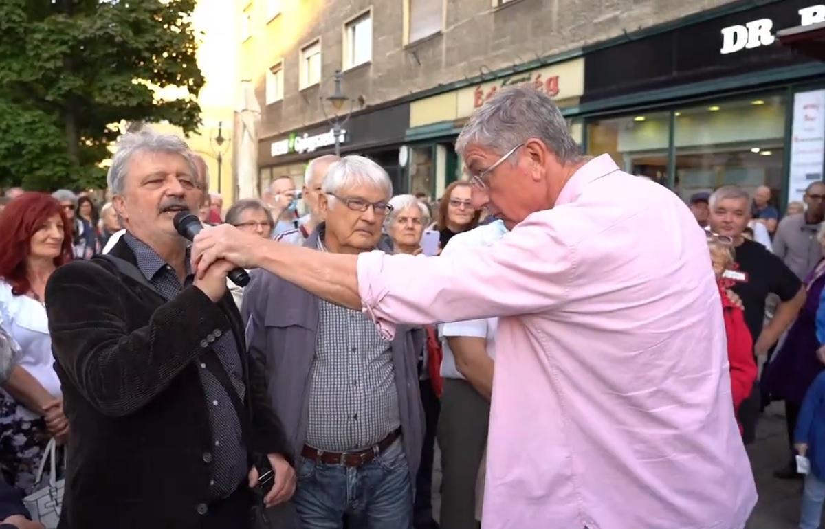 Gyurcsány Ferenc utcafórumot tartott Debrecenben.