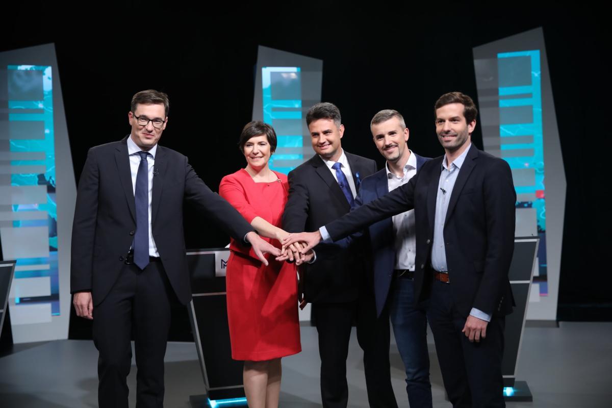 Ellenzéki miniszterelnök-jelöltek az RTL Klub stúdiójában.