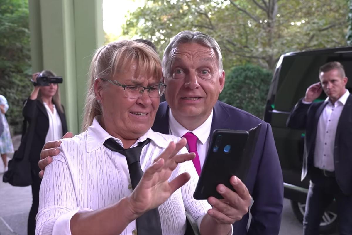 Részlet Orbán Viktor videójából.