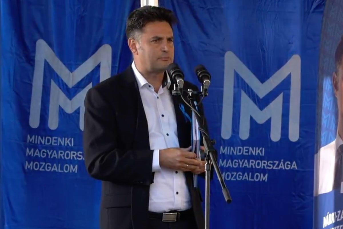 Márki-Zay Péter hódmezővásárhelyi polgármester, a Mindenki Magyarországa Mozgalom alapító elnöke.